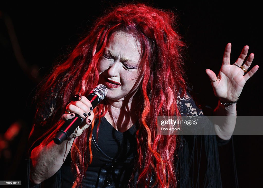 Cyndi Lauper performs live on stage at Enmore Theatre on September 6 2013 in Sydney Australia