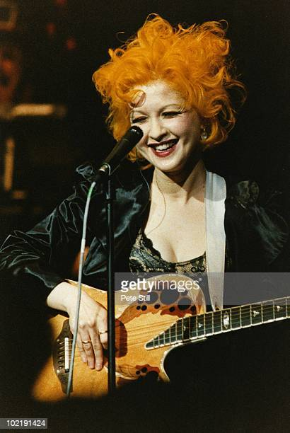 Cyndi Lauper performs on stage at The Royal Albert Hall on February 11th 1995 in London England