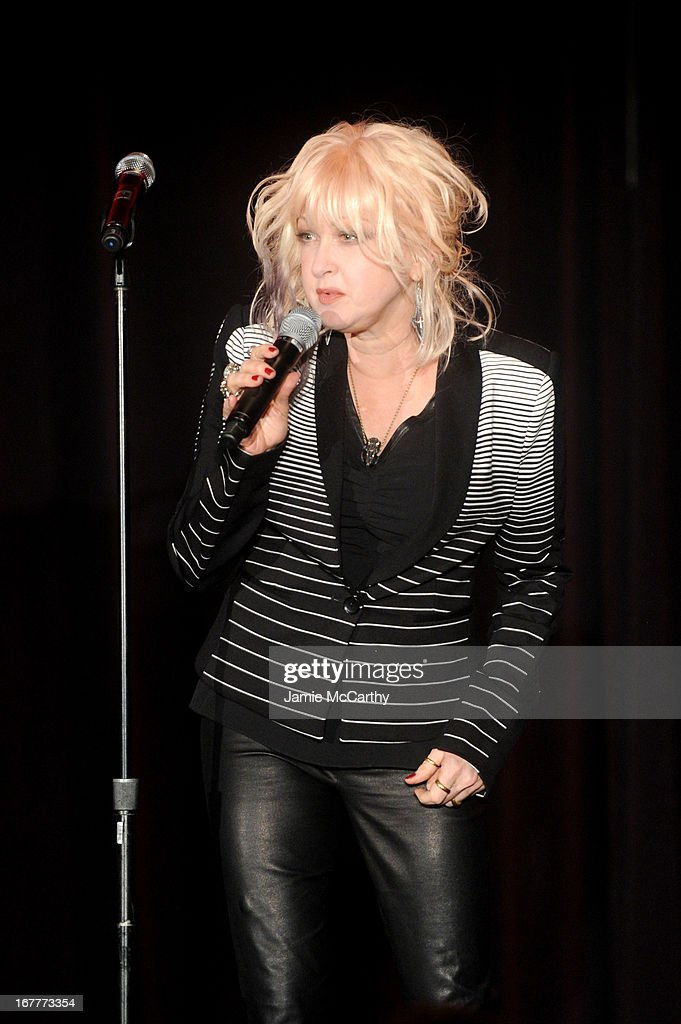 <a gi-track='captionPersonalityLinkClicked' href=/galleries/search?phrase=Cyndi+Lauper&family=editorial&specificpeople=171290 ng-click='$event.stopPropagation()'>Cyndi Lauper</a> speaks at the Family Equality Council's Night at the Pier at Pier 60 on April 29, 2013 in New York City.