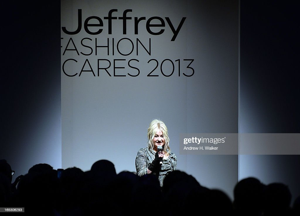 <a gi-track='captionPersonalityLinkClicked' href=/galleries/search?phrase=Cyndi+Lauper&family=editorial&specificpeople=171290 ng-click='$event.stopPropagation()'>Cyndi Lauper</a> speaks at the Jeffrey Fashion Cares 10th Anniversary Celebration at The Intrepid on April 2, 2013 in New York City.