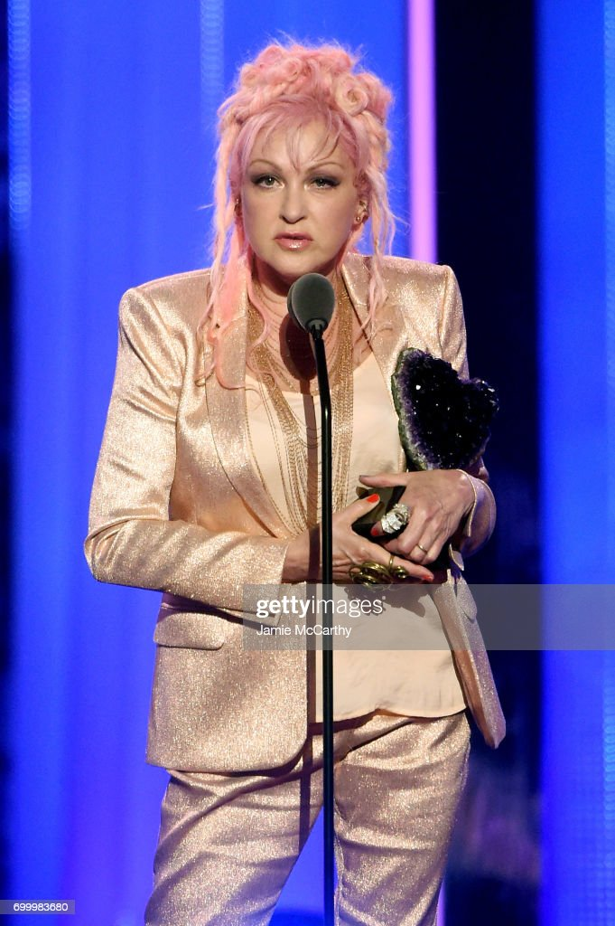 Cyndi Lauper speaks onstage at the Logo's 2017 Trailblazer Honors event at Cathedral of St. John the Divine on June 22, 2017 in New York City.