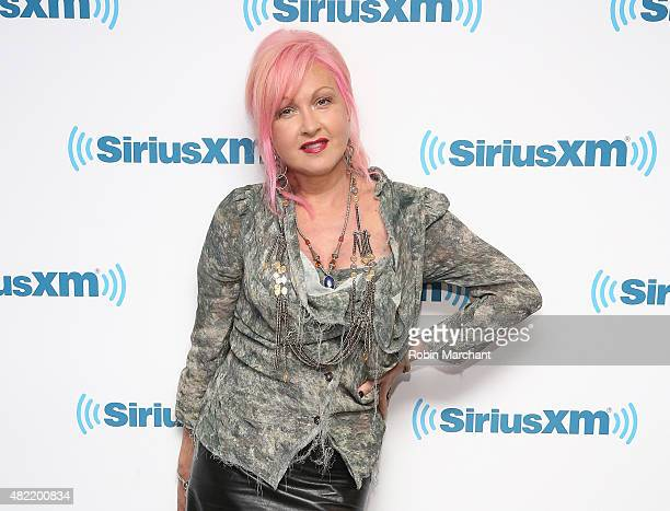 Cyndi Lauper visits at SiriusXM Studios on July 28 2015 in New York City