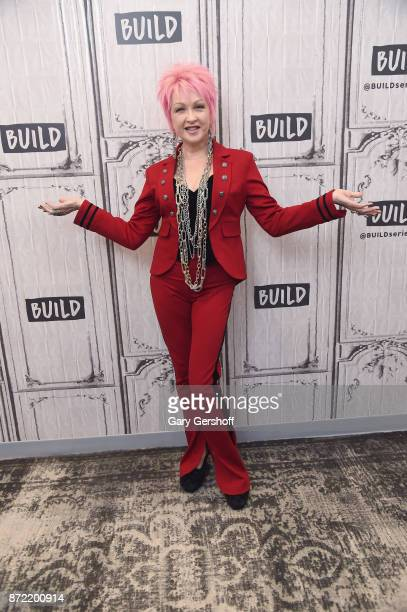 Cyndi Lauper visits Build series to discuss Novartis and the treatment for psoriasis at Build Studio on November 9 2017 in New York City