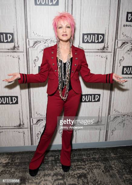 Cyndi Lauper visits Build Series to discuss Novartis at Build Studio on November 9 2017 in New York City