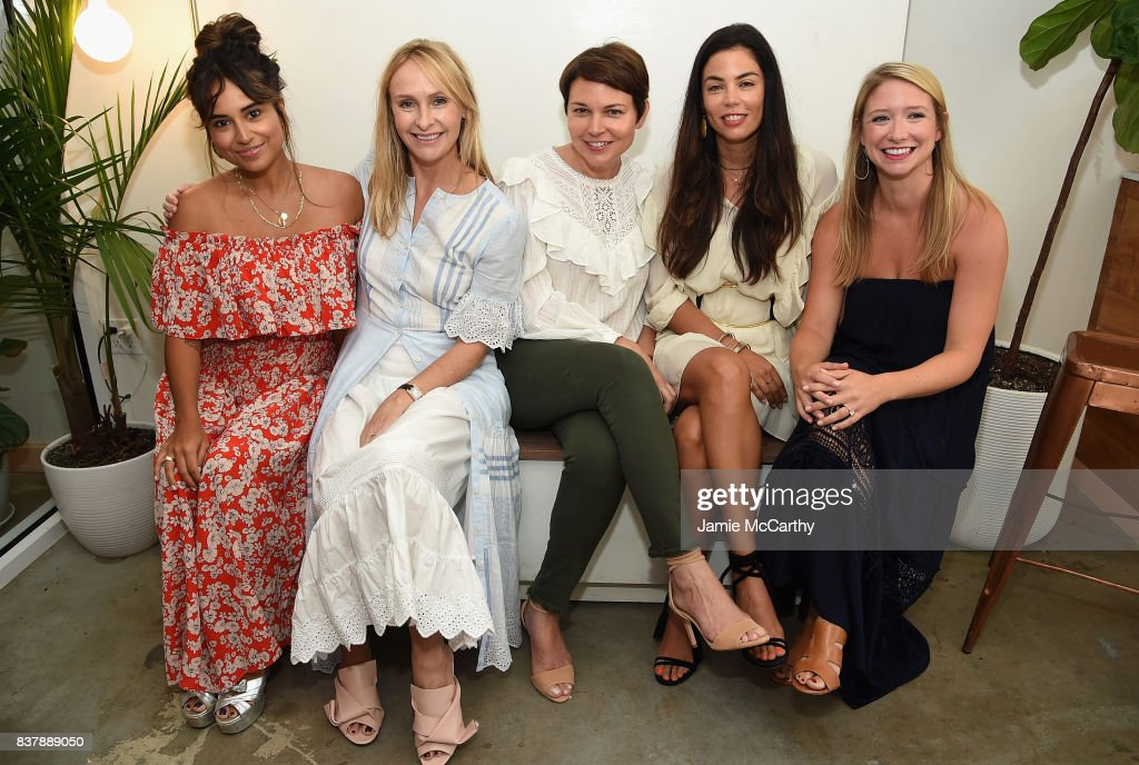 Cyndi Ramirez, Rebecca Taylor, Mariela Rovito, Ali Mejia and Johanna Lanus attend the Eberjey x Rebecca Taylor Launch Event at Chillhouse on August 23, 2017 in New York City.