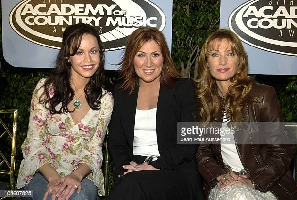 Cyndi Thomson Jo Dee Messina Jane Seymour during Nominations Announced for 'The 37th Annual Academy of Country Music Awards' at Sheraton Hotel in...