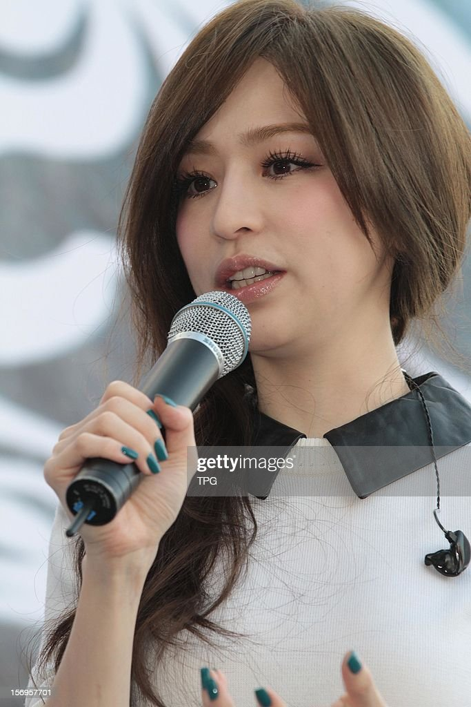 Cyndi Wong attended autograph signing activity for her new album on Sunday November 25, 2012 in Taipei, Taiwan, China.