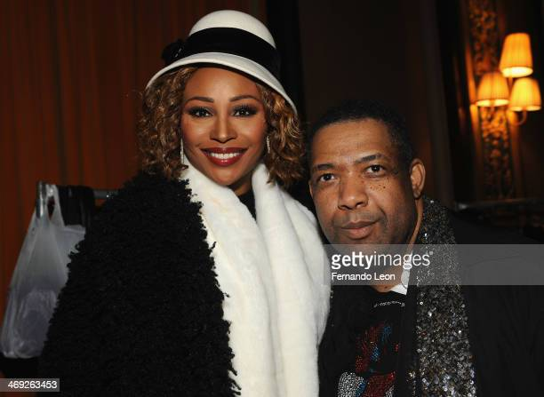 Cynthia Bailey and designer Kithe Brewster photographed backstage at the Kithe Brewster fashion show during MercedesBenz Fashion Week Fall 2014 on...