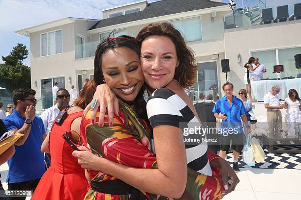 Cynthia Bailey and LuAnn De Lesseps attend Jill Zarin's 2nd Annual Luxury Ladies Luncheon on July 13 2014 in Southampton New York