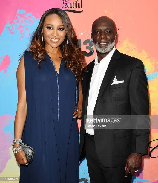 Cynthia Bailey and Peter Thomas attend Debra L Lee's 7th annual VIP pre BET dinner event at Milk Studios on June 29 2013 in Los Angeles California