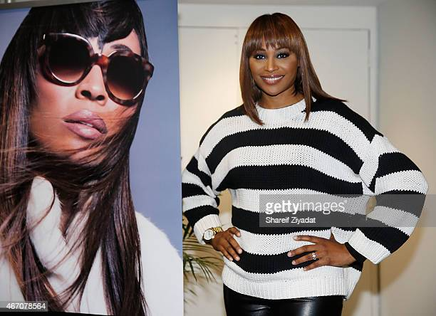 Cynthia Bailey attends the Cynthia Bailey Eyewear Launch at Jacob Javitz Center on March 20 2015 in New York City