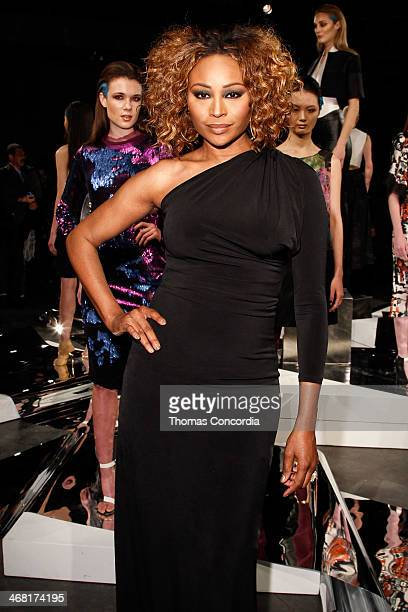 Cynthia Bailey attends the CZAR by Cesar Galindo Fall 2014 Fashion Presentation at The Hub at The Hudson Hotel on February 9 2014 in New York City