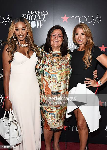 Cynthia Bailey Fern Mallis and Jill Zarin appear at Macy's Presents Fashion's Front Row After Party at Macy's Herald Square on September 17 2015 in...