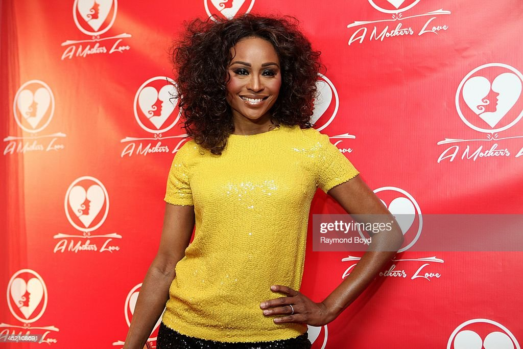 Cynthia Bailey from Bravo's 'Real Housewives Of Atlanta' poses for red carpet photos for 'A Mother's Love' stage play at the Rialto Center For The Arts in Atlanta, Georgia on NOVEMBER 22, 2013.