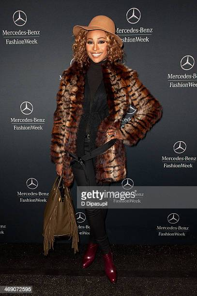 Cynthia Bailey is seen during MercedesBenz Fashion Week Fall 2014 at Lincoln Center for the Performing Arts on February 12 2014 in New York City