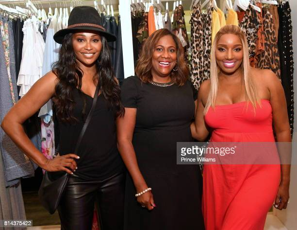 Cynthia Bailey Karyn Greer and NeNe Leaks attend EveryHue PopUp Shop at Swagg Boutique on July 13 2017 in Atlanta Georgia