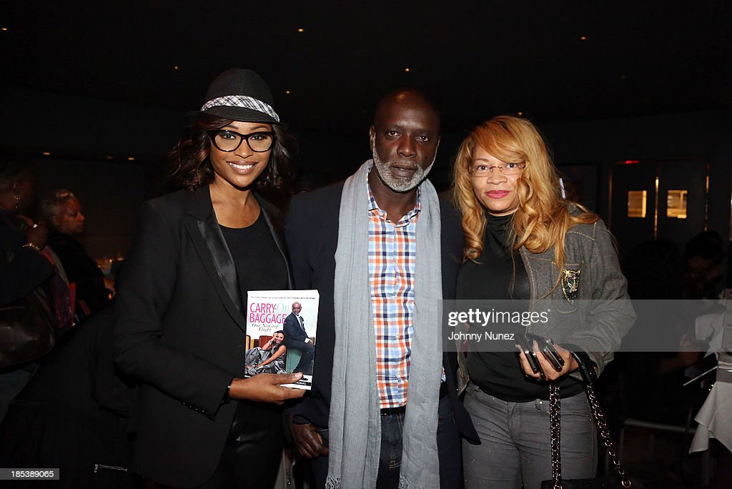 <a gi-track='captionPersonalityLinkClicked' href=/galleries/search?phrase=Cynthia+Bailey&family=editorial&specificpeople=3055318 ng-click='$event.stopPropagation()'>Cynthia Bailey</a>, Peter Thomas, and Stacia Means attend the book launch for 'Carry-On Baggage: Our Non-stop Flight,' by <a gi-track='captionPersonalityLinkClicked' href=/galleries/search?phrase=Cynthia+Bailey&family=editorial&specificpeople=3055318 ng-click='$event.stopPropagation()'>Cynthia Bailey</a> and Peter Thomas at Clyde Frazier's Wine and Dine on October 19, 2013 in New York City.