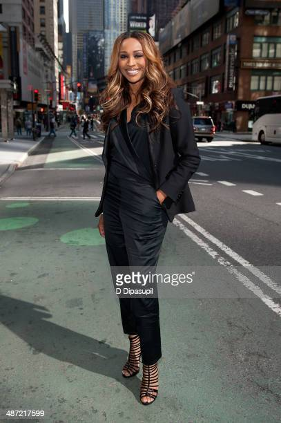 Cynthia Bailey visits 'Extra' in Times Square on April 28 2014 in New York City