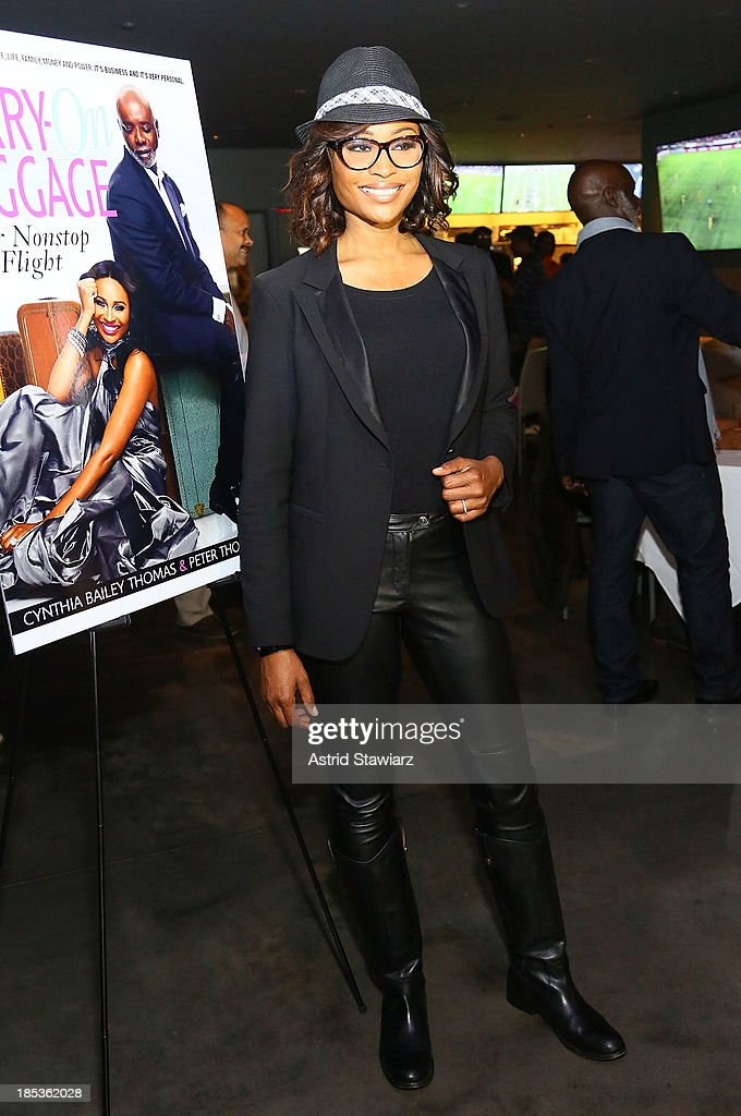 Cynthia Bailey-Thomas attends the 'Carry-On Baggage, Our Non-Stop Flight' book launch event at Clyde Frazier's Wine and Dine on October 19, 2013 in New York City.
