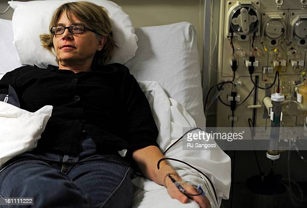 Cynthia Barnes has extremely high cholesterol and undergoes a therapy called LDLapheresis which is a dialysislike procedure in which blood is drawn...