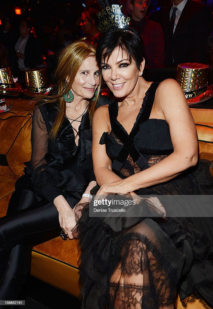 Cynthia Bussey and Kris Jenner celebrate New Year's at 1 OAK Nightclub at The Mirage Hotel & Casino on December 31, 2012 in Las Vegas, Nevada.