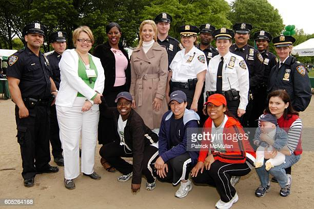 Cynthia Cathcart Valerie Campbell Laurie Dhue and NYPD attend THE NEW YORK JUNIOR LEAGUE Mother's Day Race to Erase Domestic Violence at Central Park...