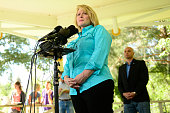 Cynthia Coffman the Attorney General of Colorado talks to the media about what she hopes the EPA will do in the future August 12 2015 at Rotary Park...
