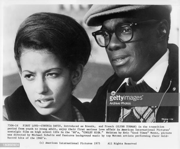 Cynthia Davis and Glynn Turman enjoy their first real love affair in a scene from the film 'Cooley High' 1975
