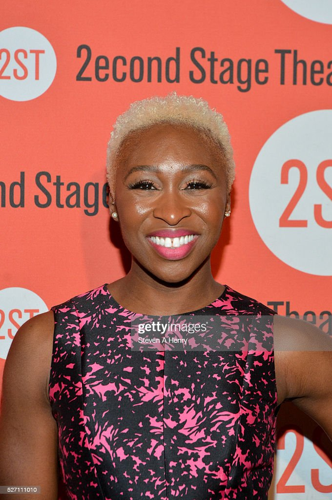 <a gi-track='captionPersonalityLinkClicked' href=/galleries/search?phrase=Cynthia+Erivo&family=editorial&specificpeople=8553747 ng-click='$event.stopPropagation()'>Cynthia Erivo</a> attends 'Dear Evan Hansen' opening night after party at John's Pizzeria on May 1, 2016 in New York City.