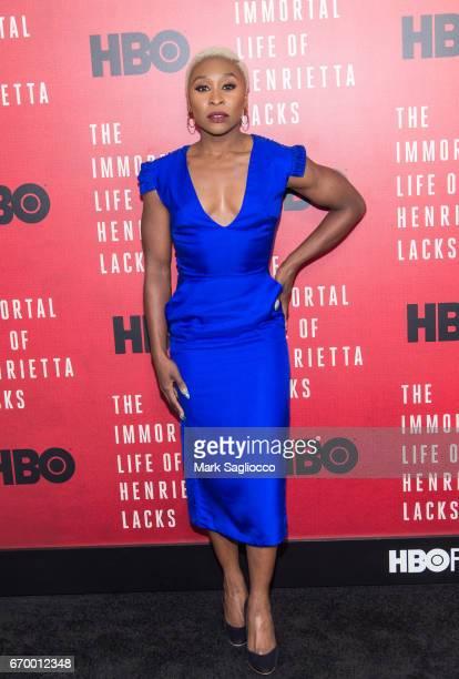 Cynthia Erivo attends 'The Immortal Life Of Henrietta Lacks' New York Premiere at SVA Theater on April 18 2017 in New York City