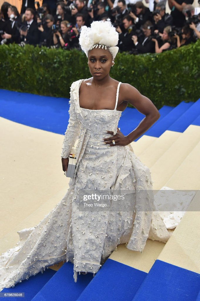 Cynthia Erivo attends the 'Rei Kawakubo/Comme des Garcons: Art Of The In-Between' Costume Institute Gala at Metropolitan Museum of Art on May 1, 2017 in New York City.