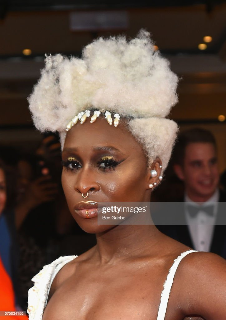 Cynthia Erivo leaves from The Mark Hotel for the 2017 'Rei Kawakubo/Comme des Garçons: Art of the In-Between' Met Gala on May 1, 2017 in New York City.