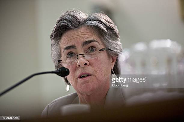Cynthia Giles assistant administrator of the office of enforcement and compliance assurance with the US Environmental Protection Agency speaks during...