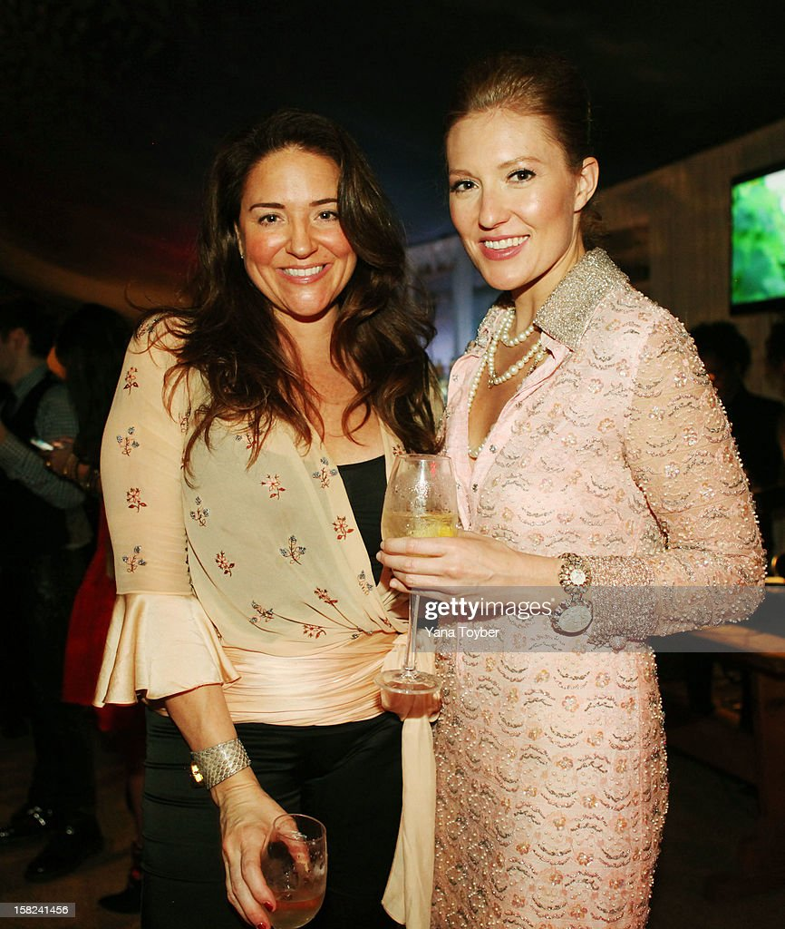 Cynthia Golub and Sara Samprini attend Pavan A La Plage at Soho Beach House on December 8, 2012 in Miami Beach, Florida.