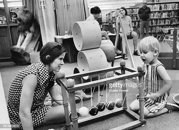 JUL 12 1973 JUL 19 1973 JUL 22 1973 Cynthia kahn and Chad Organ set croquetball pendulum in motion She's project chairman