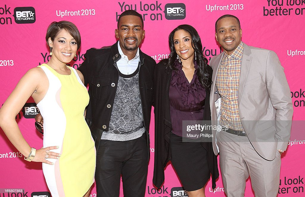 Cynthia Kaye McWilliams, Bill Bellamy, Kim Lewis and Duane Martin attend BET Networks 2013 Los Angeles Upfront at Montage Beverly Hills on April 2, 2013 in Beverly Hills, California.