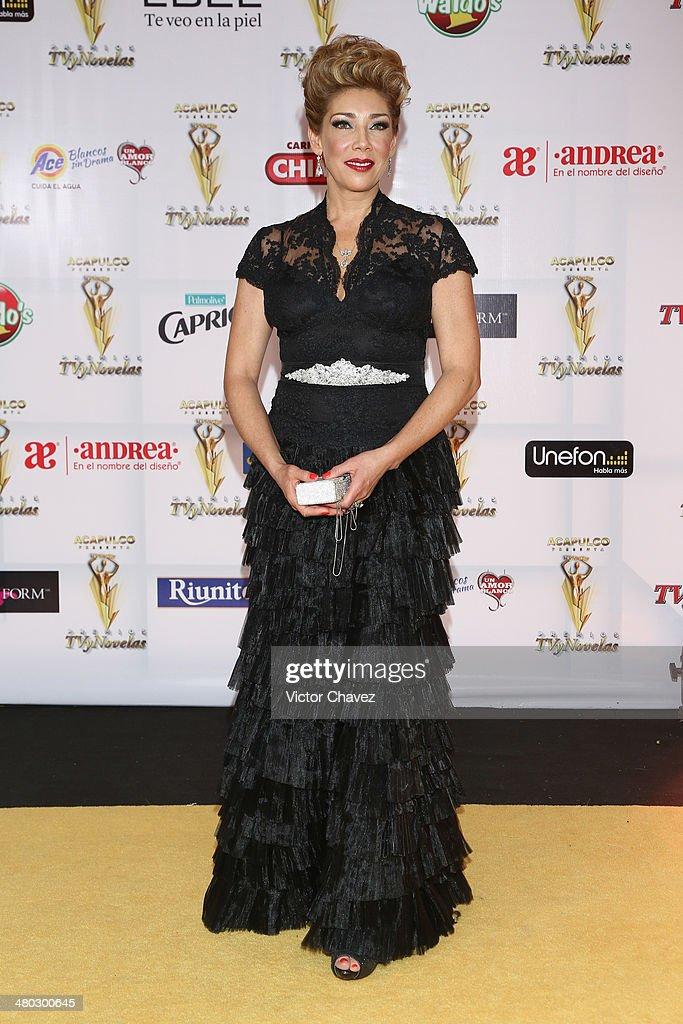 Cynthia Klitbo attends the Premios Tv y Novelas 2014 at Televisa Santa Fe on March 23 2014 in Mexico City Mexico