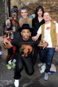 Cynthia LawrenceJohn Ian Brown Bobby Gillespie Gary Aspden and Darryl 'DMC' McDaniels attend the launch of the adidas #Spezial exhibtion showcasing...