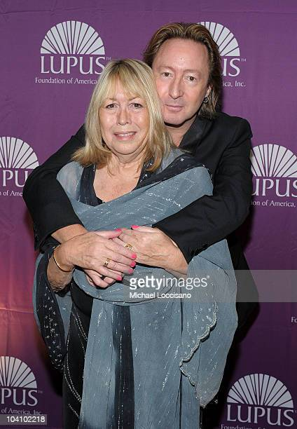 Cynthia Lennon and musician Julian Lennon attend the Star Studded Inaugural Butterfly Gala hosted by the Lupus Foundation of America at Mandarin...