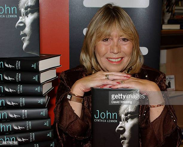 Cynthia Lennon firstwife of John Lennon signs copies of 'John' her biography of the life of her exhusband at Foyles on September 26 2005 in London...