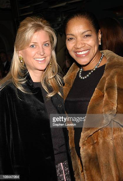 Cynthia Lufkin and Grace Hightower during Olympus Fashion Week Fall 2005 Nicole Miller Front Row and Runway at The Manhattan Yacht Club in New York...