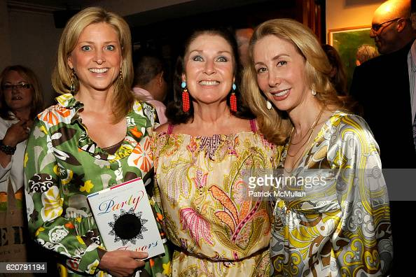 Cynthia Lufkin Sharon Sondes and Sharon Handler attend 'PARTY FAVORS' by Nicole Sexton Book Release Party at Michael's on July 29 2008 in New York...
