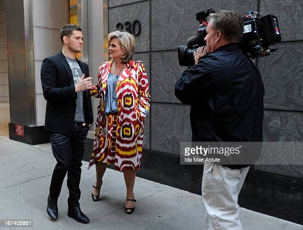 NIGHTLINE Cynthia McFadden interviews international pop singer Michael Buble at Patsy's Restaurant on 56th Street in NYC the legendary hangout of the...