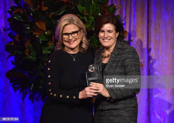 Cynthia McFadden presents award to Honoree Lisa Caputo attends The International Women's Media Foundation's 28th Annual Courage In Journalism Awards...