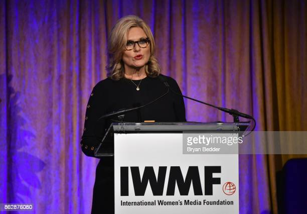 Cynthia McFadden speaks onstage at The International Women's Media Foundation's 28th Annual Courage In Journalism Awards Ceremony at Cipriani 42nd...