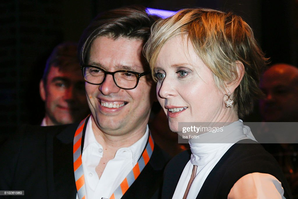 <a gi-track='captionPersonalityLinkClicked' href=/galleries/search?phrase=Cynthia+Nixon&family=editorial&specificpeople=202583 ng-click='$event.stopPropagation()'>Cynthia Nixon</a> and guest attend the Glashuette 'A Quiet Passion' Pre-Premiere Reception on February 14, 2016 in Berlin, Germany.