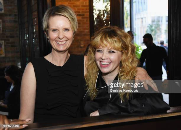 Cynthia Nixon and Natasha Lyonne attend Through Her Lens The Tribeca Chanel Women's Filmmaker Program Luncheon at Locanda Verde on October 17 2017 in...