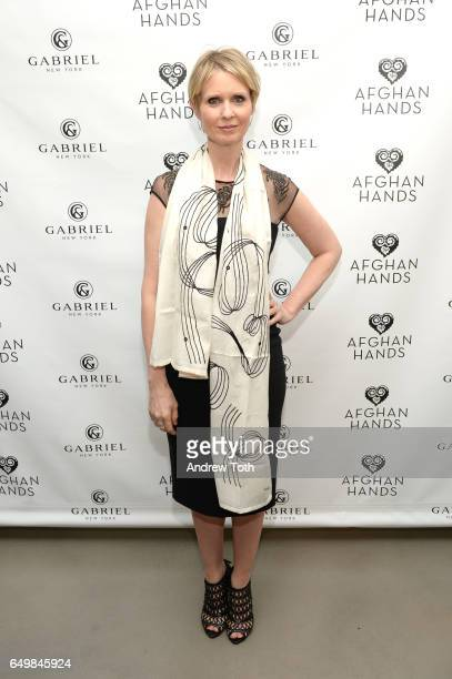 Cynthia Nixon attends the 2017 Afghan Hands fundraiser at Gabriel Co Showroom on March 8 2017 in New York City