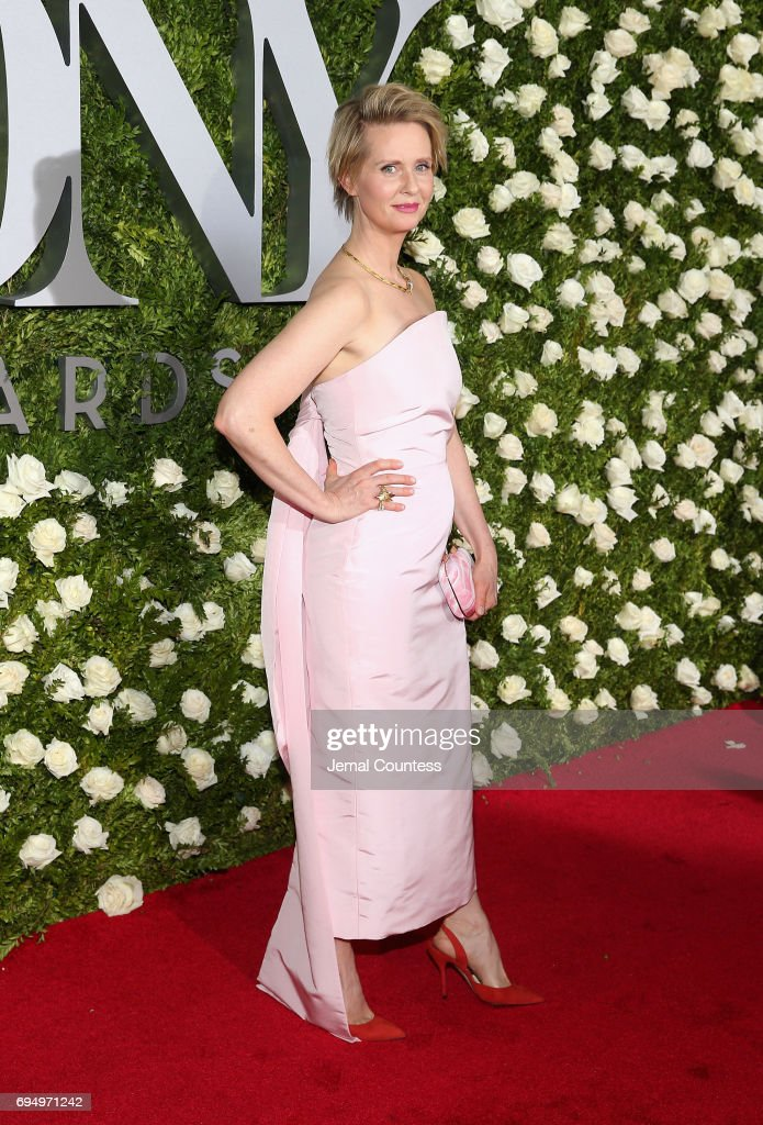 Cynthia Nixon attends the 2017 Tony Awards at Radio City Music Hall on June 11, 2017 in New York City.