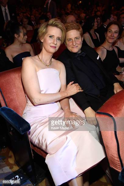 Cynthia Nixon attends the 2017 Tony Awards at Radio City Music Hall on June 11 2017 in New York City